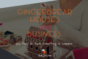 Gingerbread Houses and Business - yeas they do have something in common