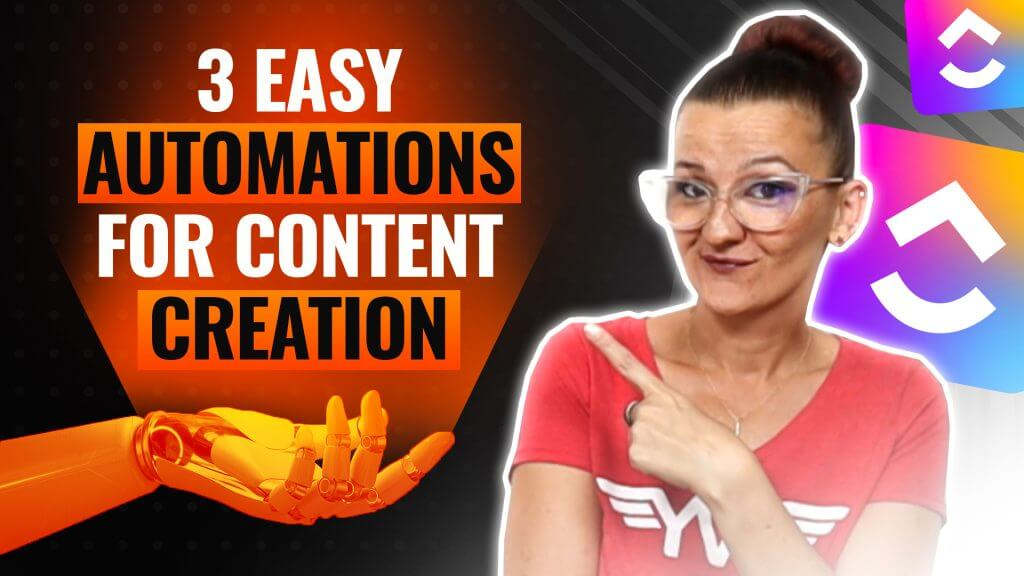 3 EASY ClickUp Automations to Simplify Your Content Creation Process featured blog post image